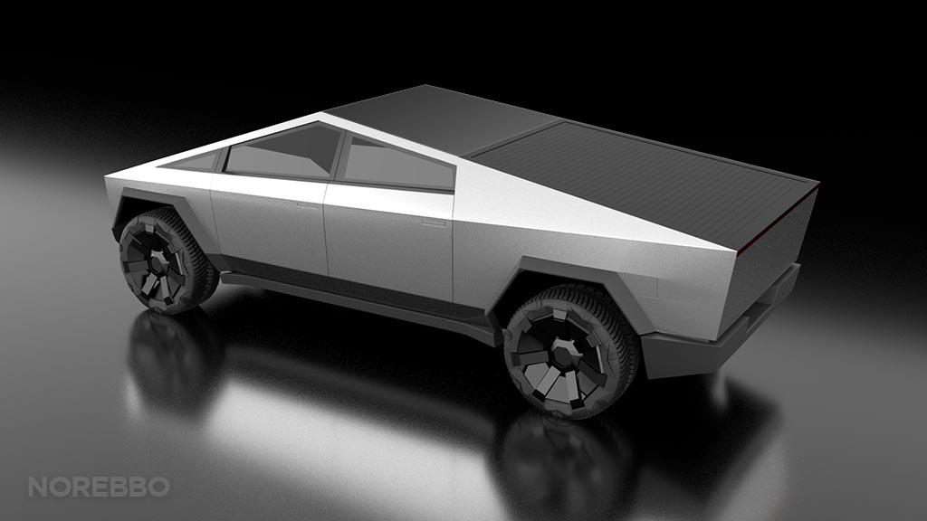 Cybertruck 3d model preview