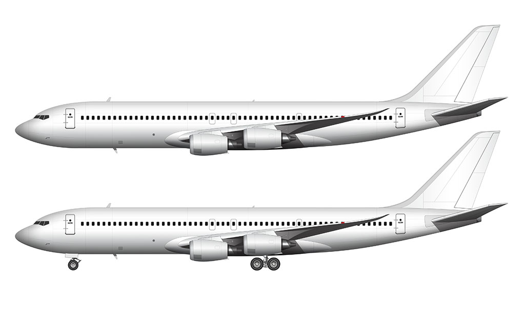 Boeing 707 MAX side view