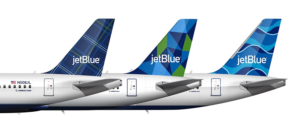JetBlue streamers tail comparison