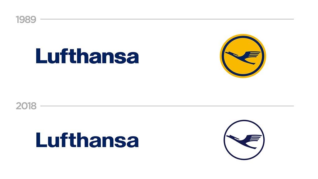 Lufthansa 2018 brand redesign
