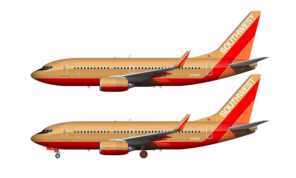 Southwest Airlines Desert Gold livery