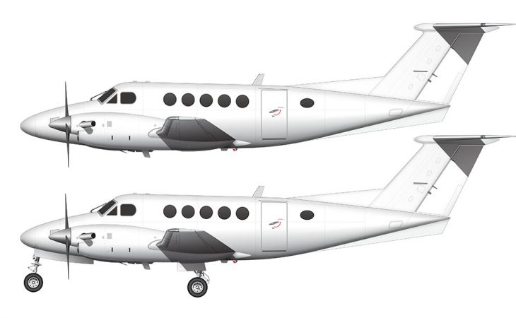 Beechcraft B200 King Air side view