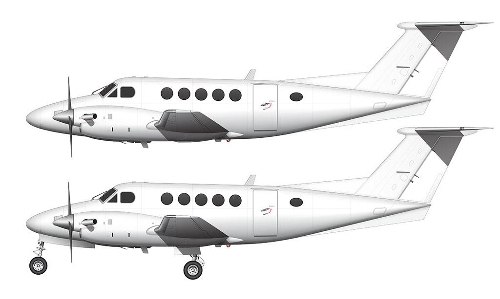 Beechcraft B200 King Air side view