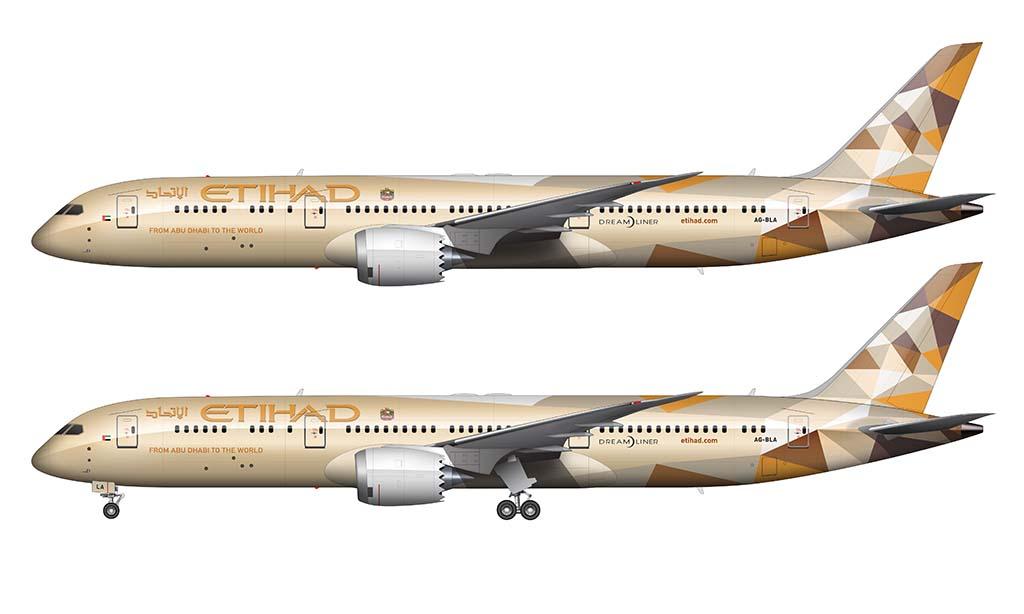 Etihad 787-9 livery