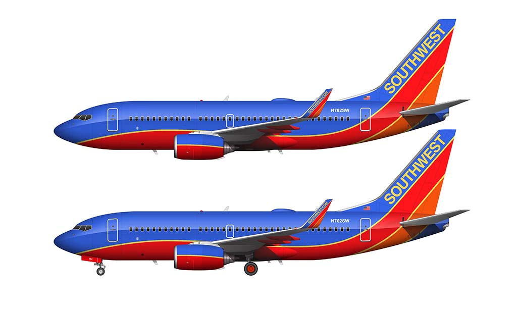 Southwest Airlines Canyon Blue livery