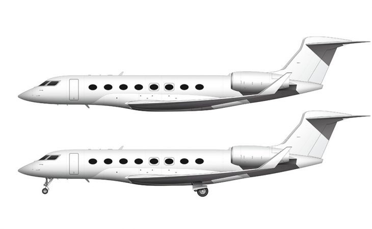 All White Gulfstream G650ER