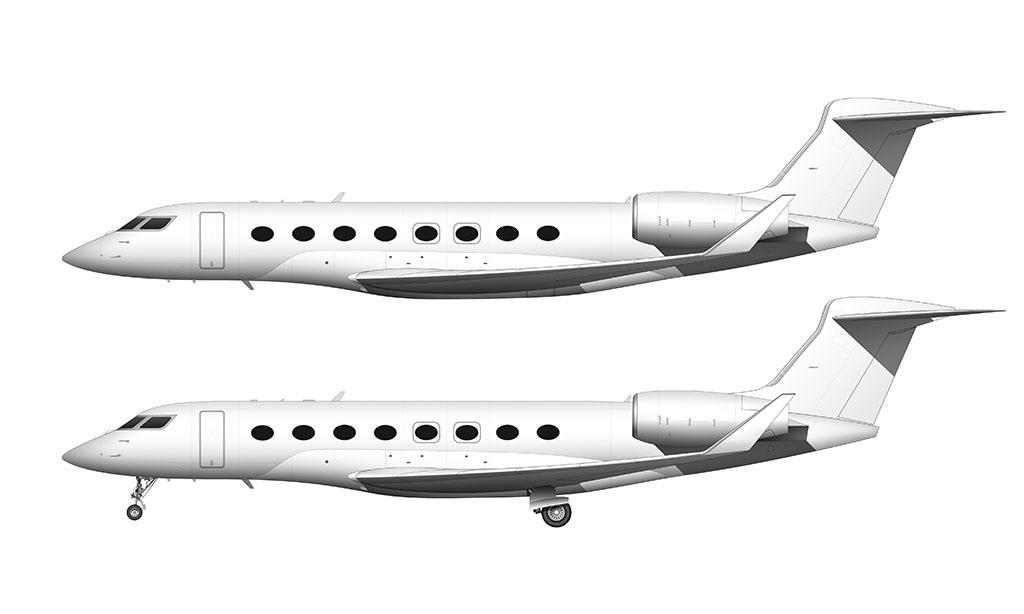 Gulfstream G650ER side view