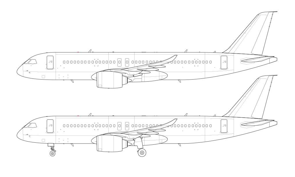 Comac C919 line drawing blueprint