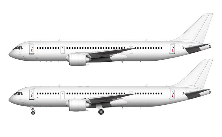 All White Irkut MC-21-300 side view