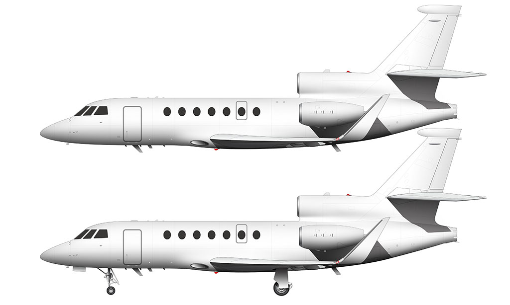 Dassault Falcon 50 with winglets