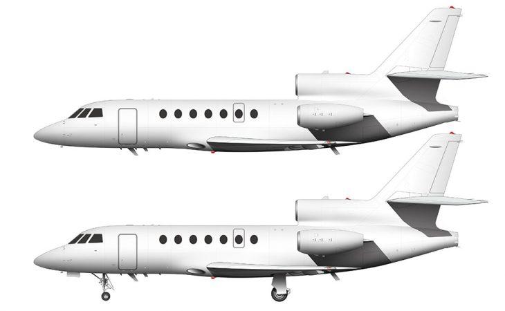 Dassault Falcon 50 side view